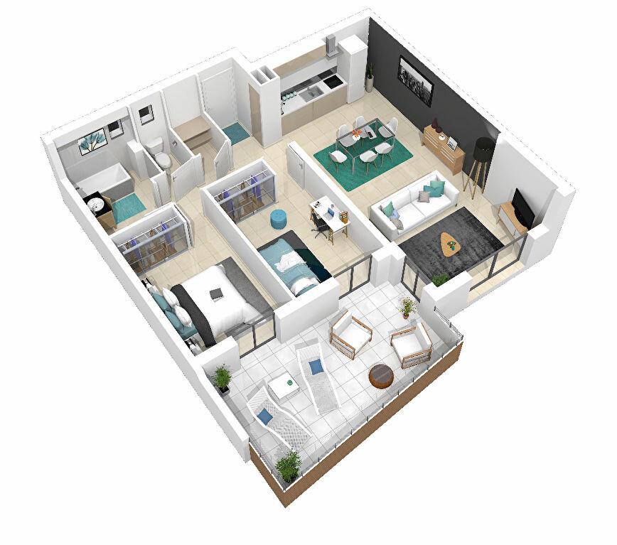 Appartement à vendre 3 69.33m2 à Manosque plan-1