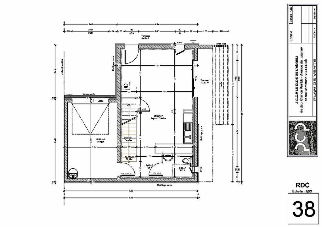 Appartement à vendre 3 70.44m2 à Velleron plan-2