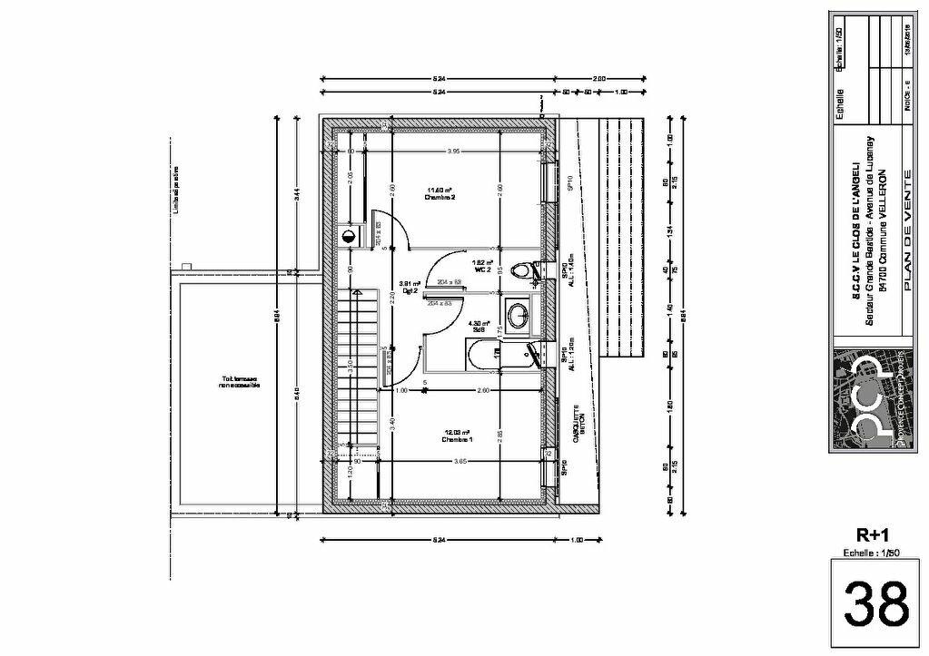 Appartement à vendre 3 70.44m2 à Velleron plan-3