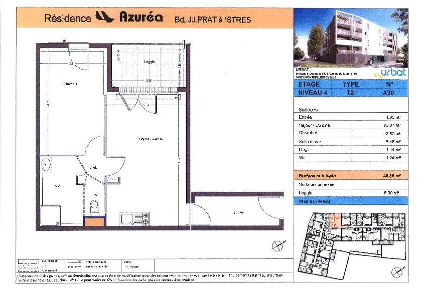 Appartement à louer 2 45.85m2 à Istres vignette-4