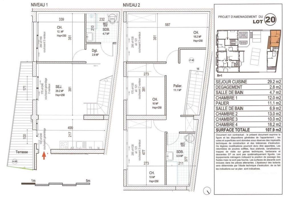 Appartement à vendre 5 107.9m2 à Lille vignette-2