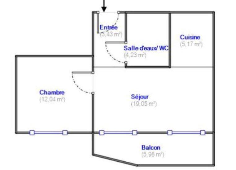Appartement à louer 2 43.76m2 à Sevran vignette-5