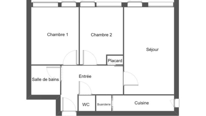 Appartement à vendre 3 60.21m2 à Villeurbanne plan-1