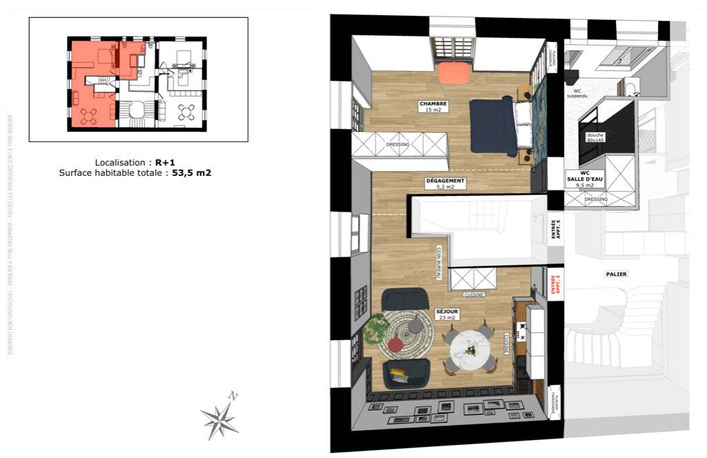 Appartement à vendre 2 53.5m2 à Champagne-au-Mont-d'Or vignette-2
