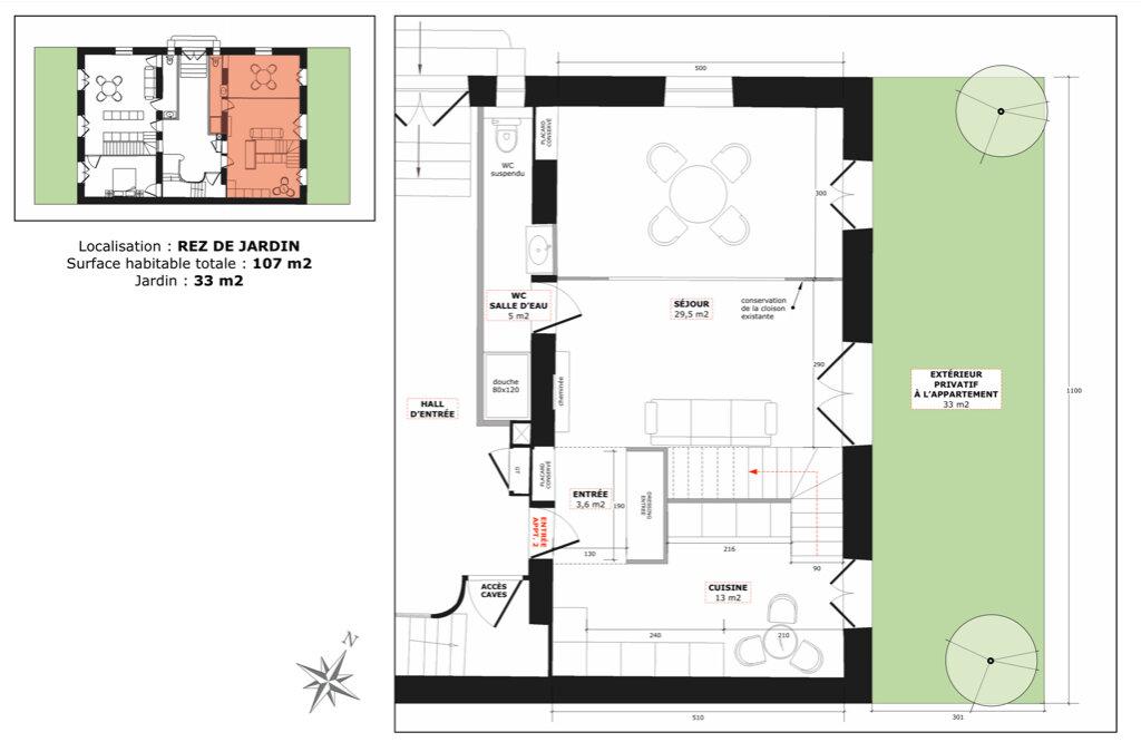 Appartement à vendre 3 59.5m2 à Champagne-au-Mont-d'Or vignette-2