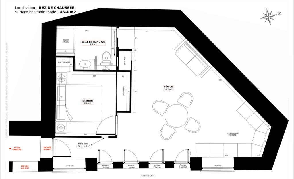 Appartement à vendre 3 59.5m2 à Champagne-au-Mont-d'Or vignette-4