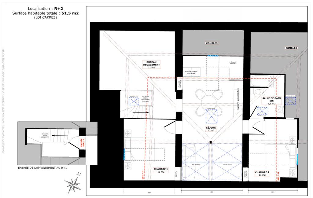 Appartement à vendre 3 51m2 à Champagne-au-Mont-d'Or vignette-4