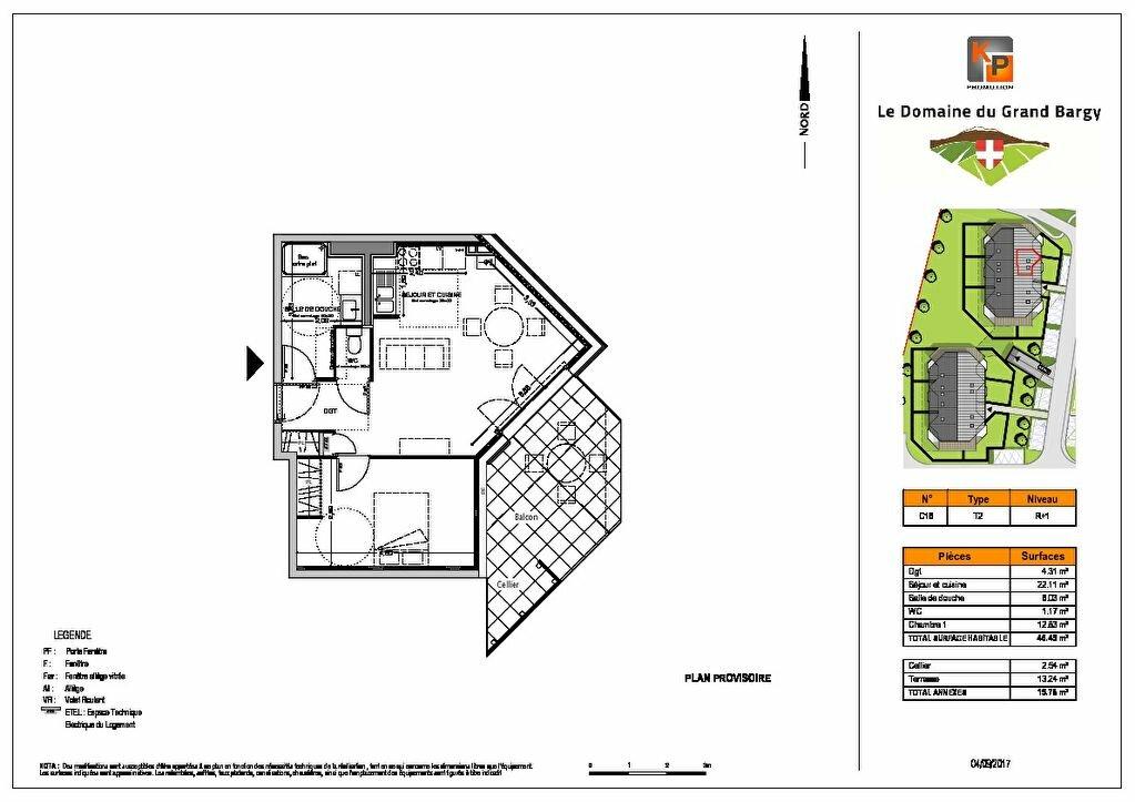 Appartement à vendre 2 47.02m2 à Marignier vignette-2