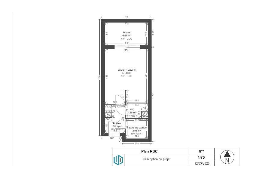 Appartement à louer 1 23.58m2 à Reims plan-2