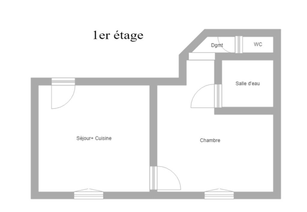 Appartement à louer 2 31m2 à Reims plan-1