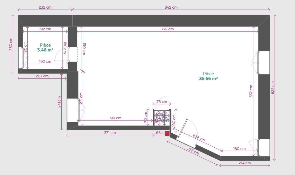 Appartement à louer 1 35m2 à Reims vignette-3