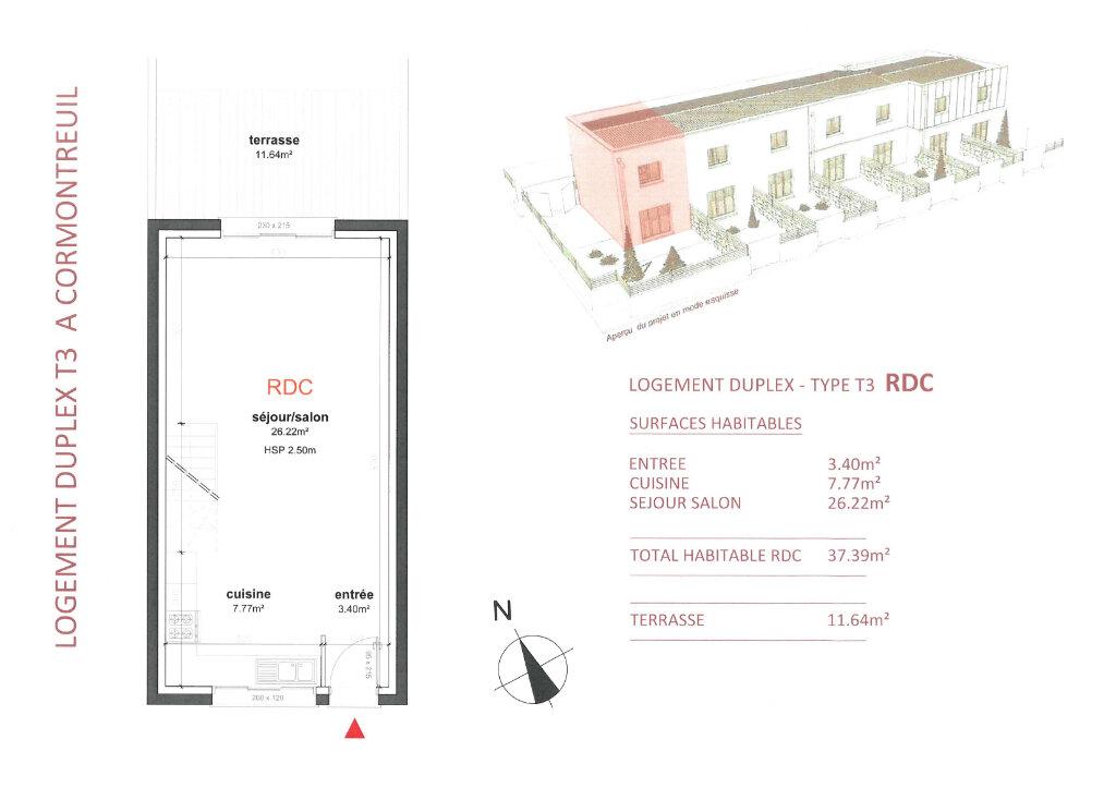 Maison à vendre 3 71.67m2 à Cormontreuil vignette-2