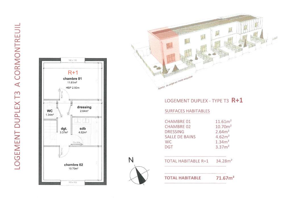 Maison à vendre 3 71.67m2 à Cormontreuil vignette-3