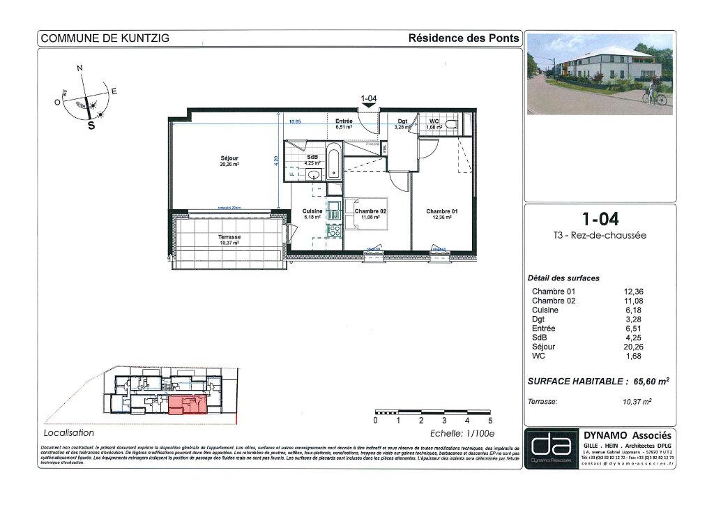 Appartement à vendre 3 65.6m2 à Kuntzig vignette-9