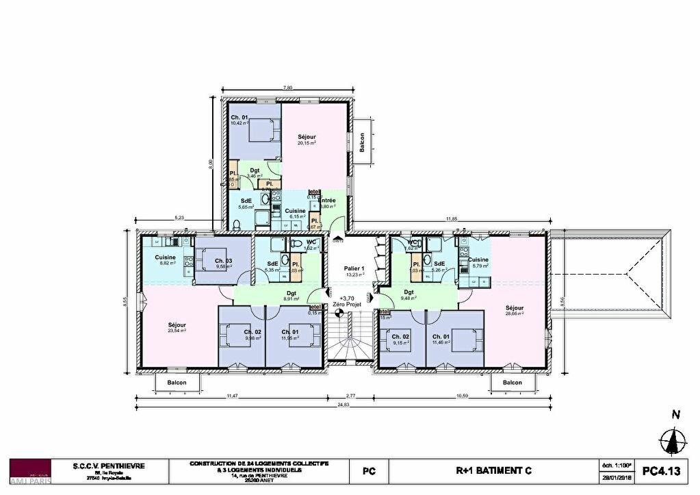 Appartement à vendre 3 62.31m2 à Anet vignette-4