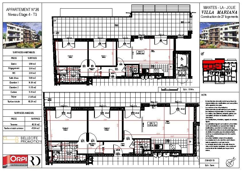 Appartement à vendre 3 63.69m2 à Mantes-la-Jolie vignette-1