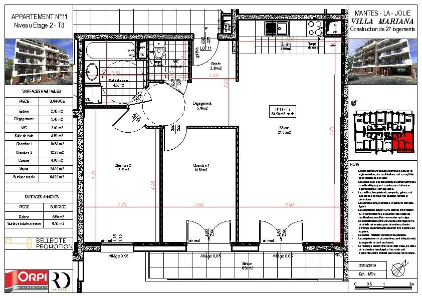 Appartement à vendre 3 64.9m2 à Mantes-la-Jolie vignette-1