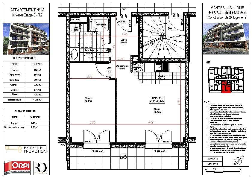 Appartement à vendre 2 42.35m2 à Mantes-la-Jolie vignette-1