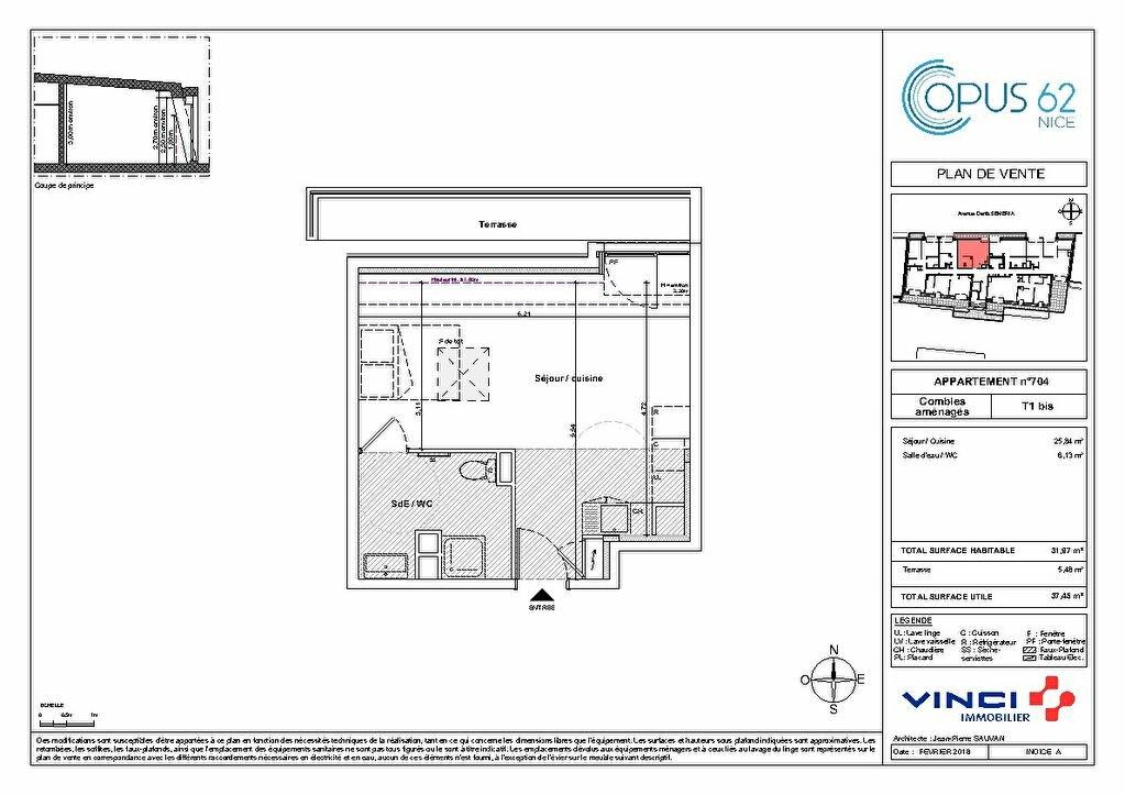 Appartement à vendre 1 32m2 à Nice vignette-3
