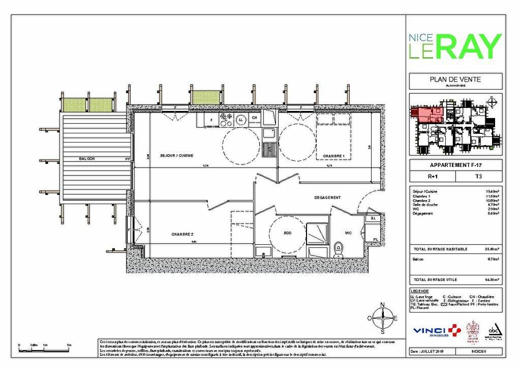 Appartement à vendre 3 55.8m2 à Nice vignette-4