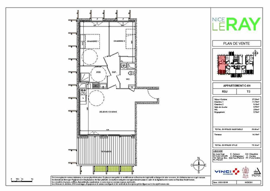 Appartement à vendre 3 55.8m2 à Nice vignette-5