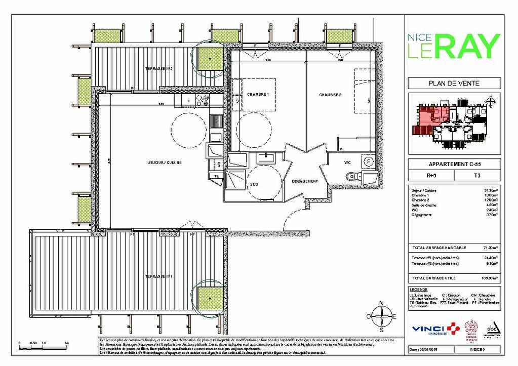 Appartement à vendre 3 55.8m2 à Nice vignette-6