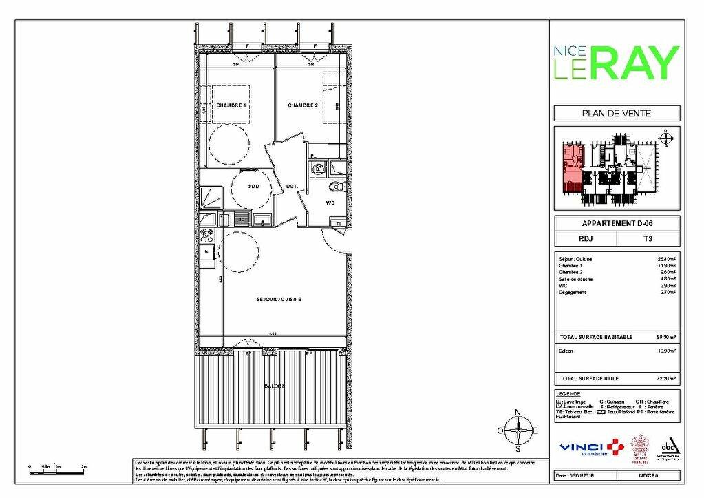 Appartement à vendre 3 55.8m2 à Nice vignette-7