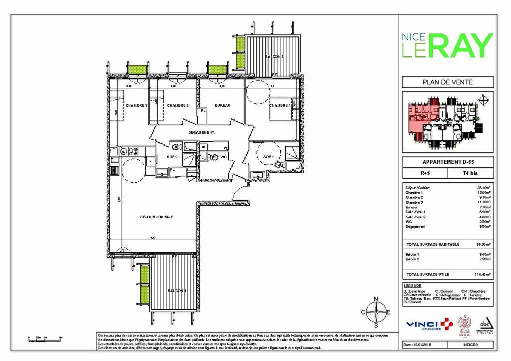 Appartement à vendre 5 99.5m2 à Nice vignette-4