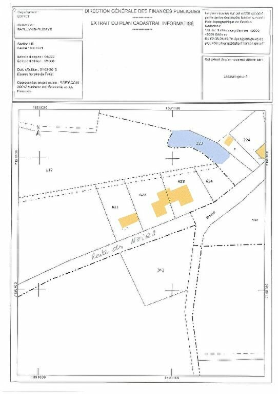Terrain à vendre 0 2400m2 à Batilly-en-Puisaye plan-2