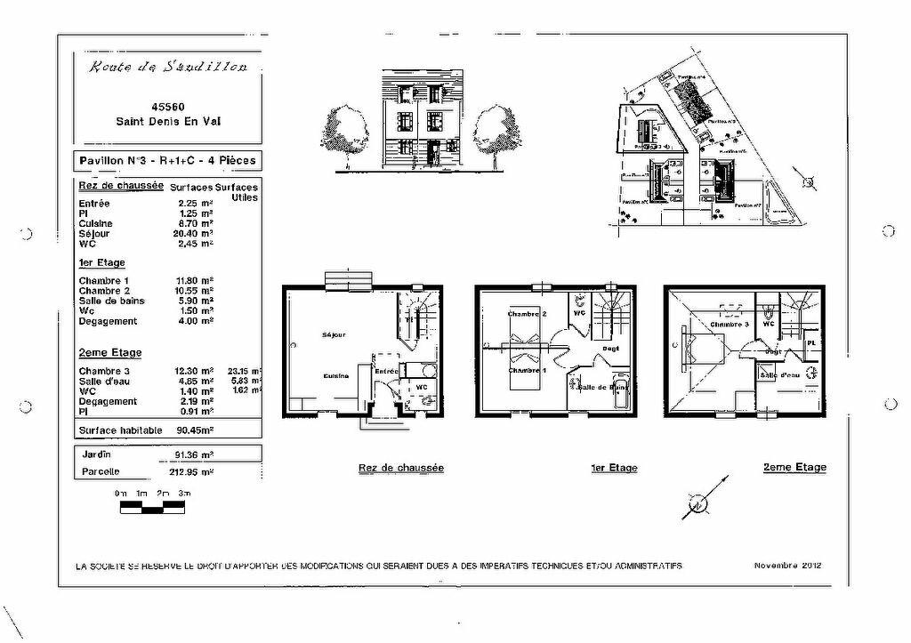 Maison à vendre 4 90m2 à Saint-Denis-en-Val plan-1