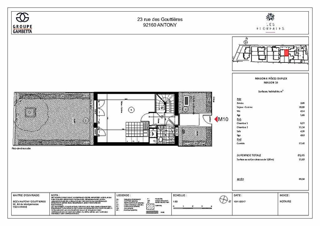 Maison à vendre 4 85.05m2 à Antony vignette-3