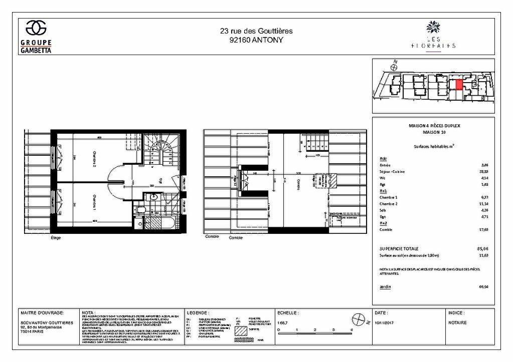 Maison à vendre 4 85.05m2 à Antony vignette-4