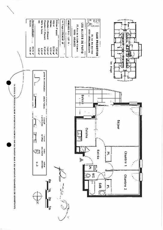 Appartement à louer 3 60.7m2 à Bourges plan-1