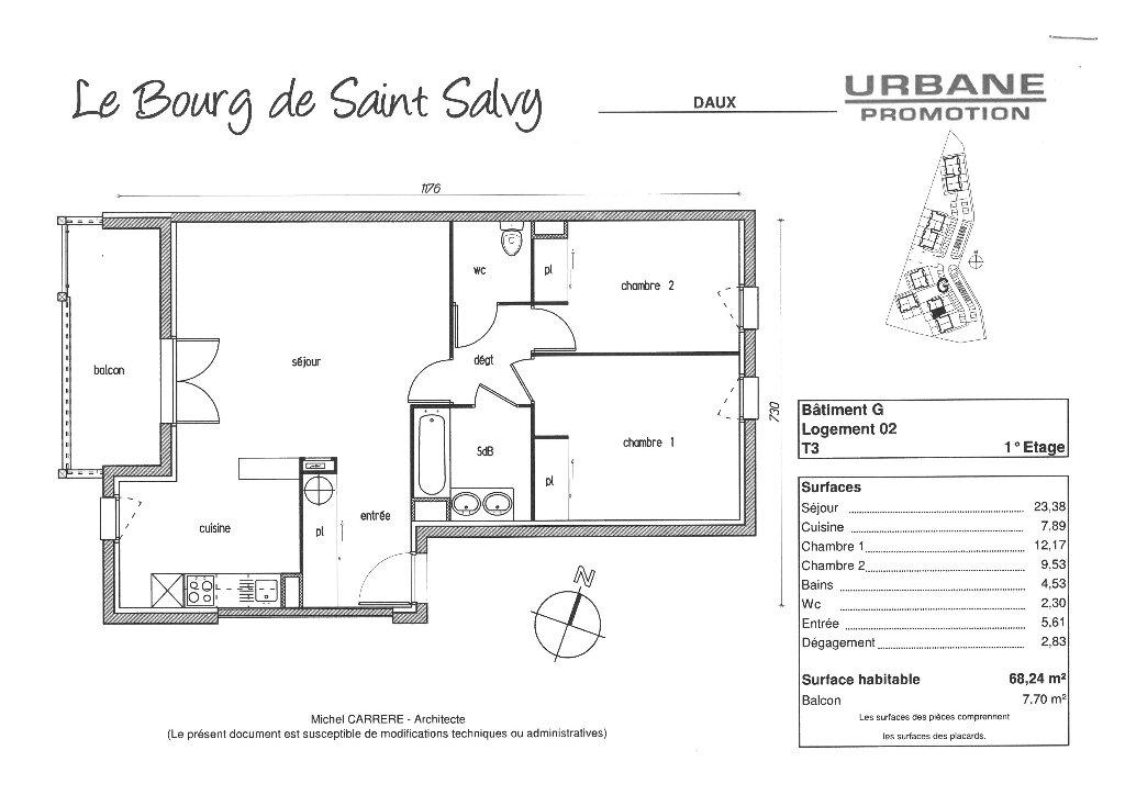 Appartement à louer 3 68.24m2 à Daux vignette-10