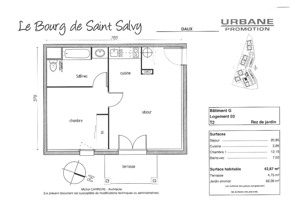 Appartement à louer 2 42.87m2 à Daux vignette-6