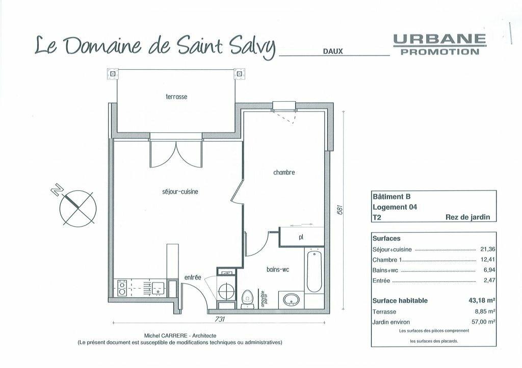 Appartement à louer 2 43.18m2 à Daux vignette-4