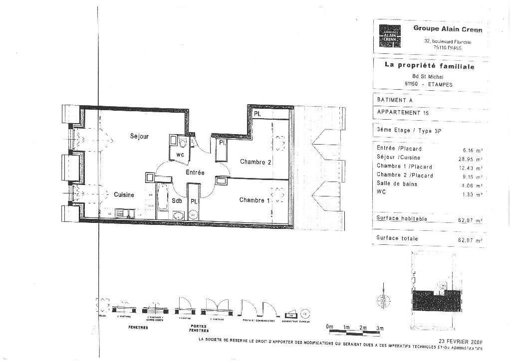 Appartement à louer 3 62.07m2 à Étampes vignette-5