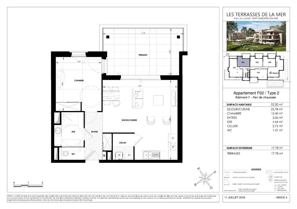 Appartement à vendre 2 52.19m2 à Saint-Mandrier-sur-Mer vignette-3