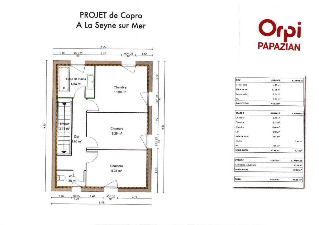 Maison à vendre 4 88m2 à La Seyne-sur-Mer vignette-3