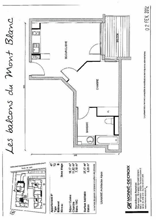 Appartement à louer 2 37.17m2 à Gex vignette-3