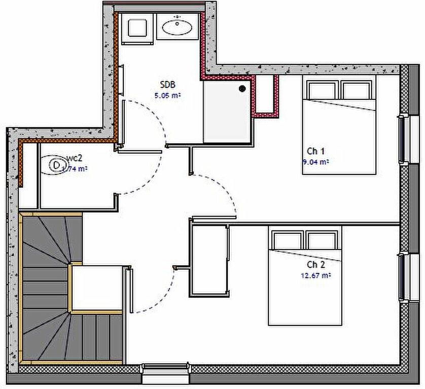 Appartement à vendre 3 69.87m2 à Metz vignette-2