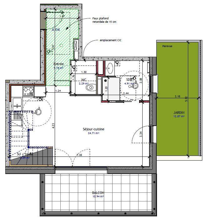 Appartement à vendre 3 70.05m2 à Metz vignette-1
