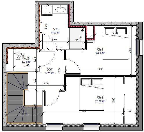 Appartement à vendre 3 70.05m2 à Metz vignette-2