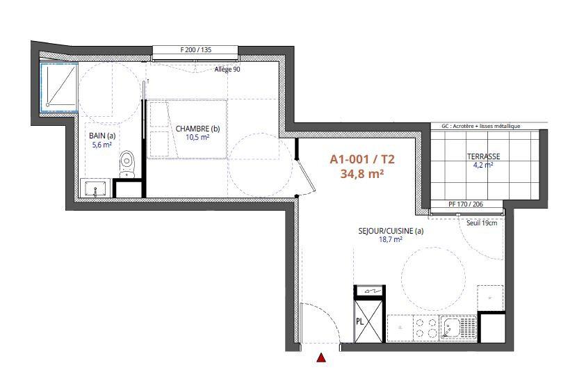 Appartement à vendre 2 34.8m2 à Metz vignette-2