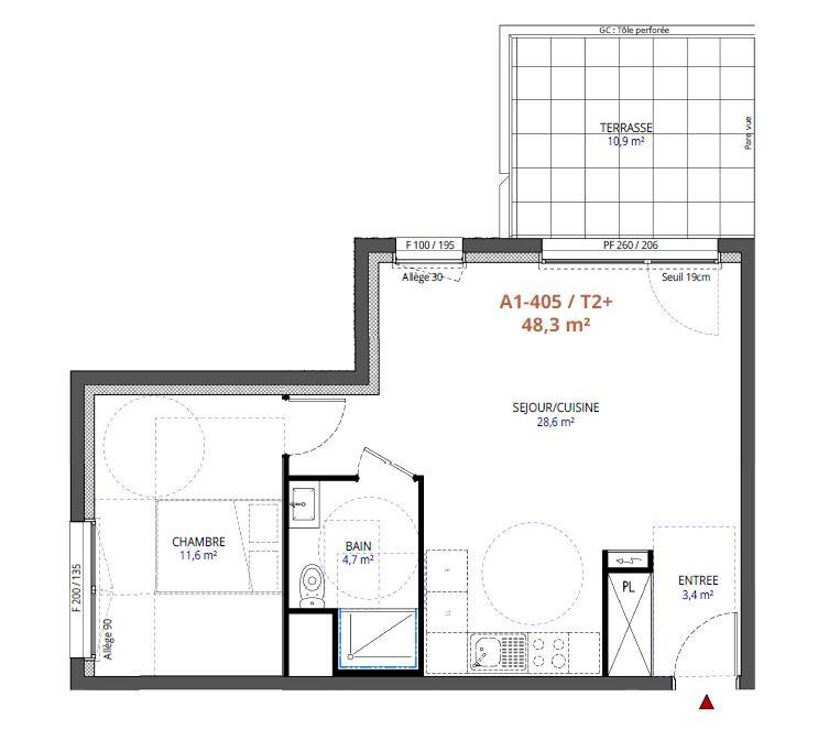 Appartement à vendre 2 48.3m2 à Metz vignette-2