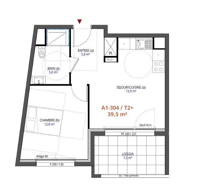 Appartement à vendre 2 39.5m2 à Metz vignette-1