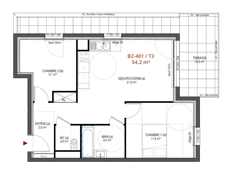 Appartement à vendre 3 54.2m2 à Metz vignette-2