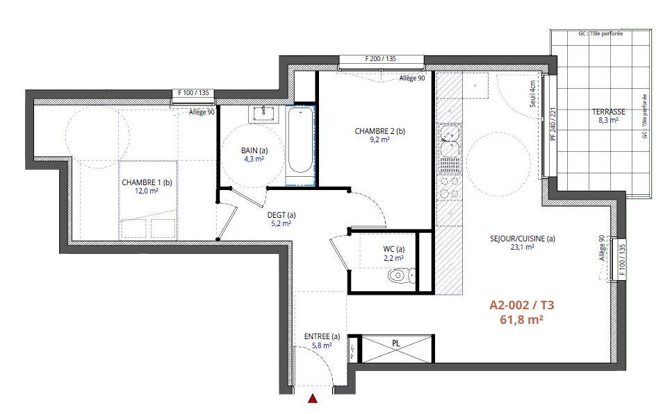 Appartement à vendre 3 61.8m2 à Metz vignette-1