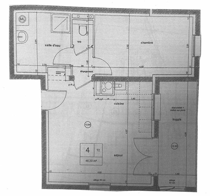 Appartement à louer 2 46.2m2 à Talange vignette-3