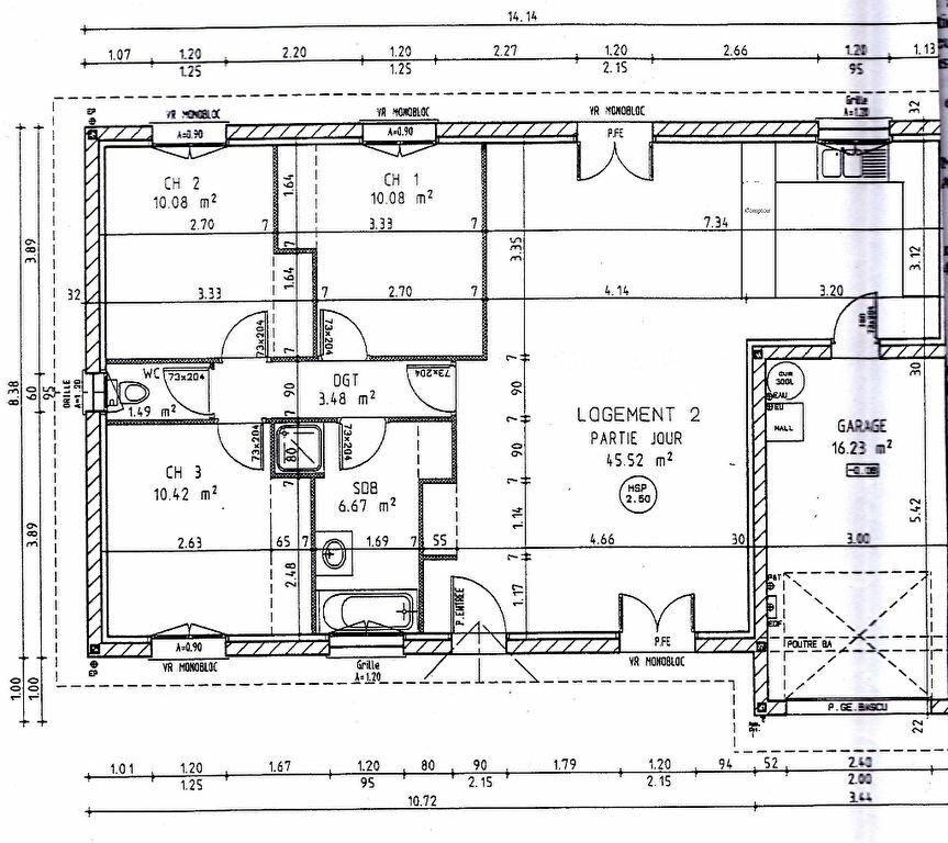Maison à louer 4 87.3m2 à Pey vignette-2